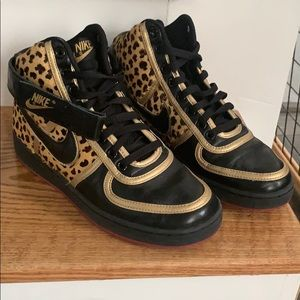 Nike leopard and black high tops